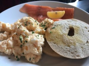Blackroot Bistro - Bagel Salmon and Scrambled Eggs