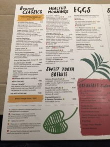 Giraffe Breakfast Menu