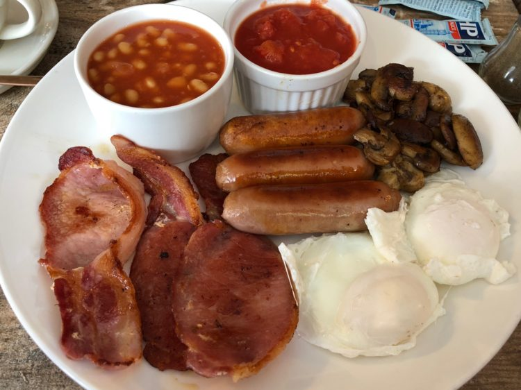 Bitter and Sweet - Full English Breakfast - seperate beans and tomatoes