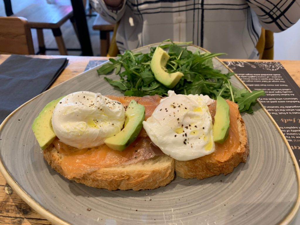 Laghis Deli - Edgbaston - Avocado Salmon and Poached Eggs
