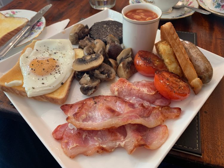 Full English Breakfast - One Castle Street B and B - Bakewell