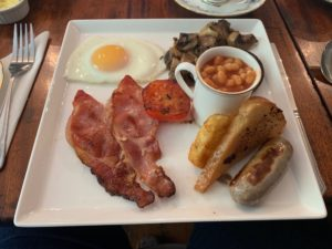 Full English with fried bread - One Castle Street B and B - Bakewell